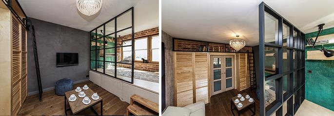 Photo Перегородки для зонирования комнаты или квартиры