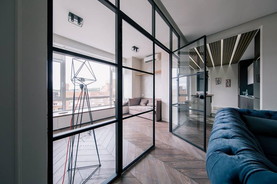 Фото Перегородки для зонирования комнаты или квартиры